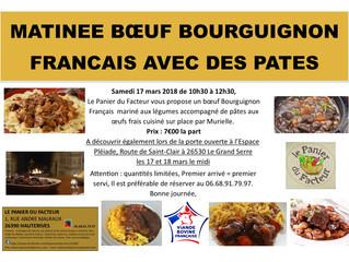 Matinée Bœuf Bourguignon Pâtes