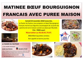 Matinée Bœuf Bourguignon et Purée Maison