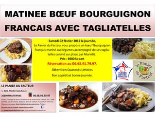 Matinée Bœuf Bourguignon Tagliatelles