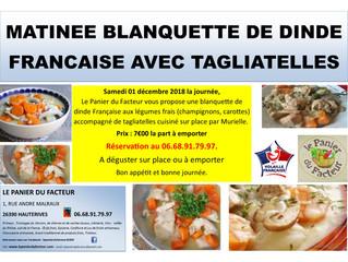 Matinée Blanquette de Dinde et Tagliatelles