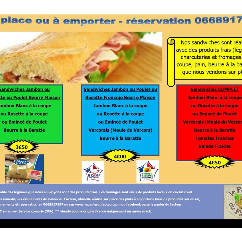 Carte menu snack en image P6