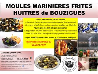Moules Marinières Frites et Huîtres de Bouzigues