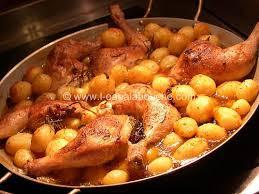 Cuisses de canard et pommes de terre nouvelles rissolées