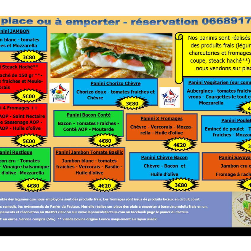 Carte menu snack en image P2