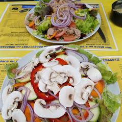 Salade légumes et salade thon