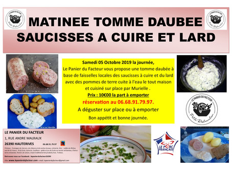 Matinée Tomme Daubée Saucisse et Lard