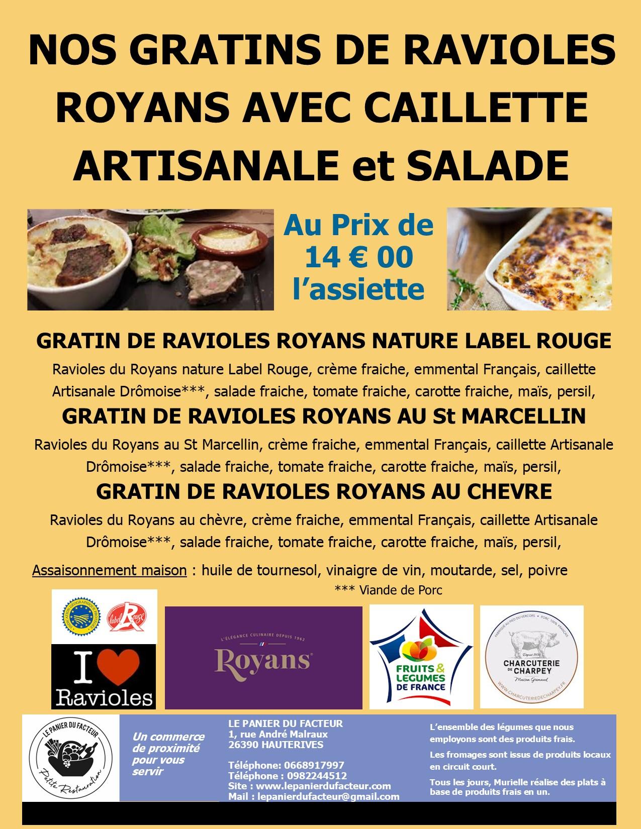 Affiche gratins de ravioles