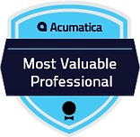 Acumatica – Most Valuable Professional