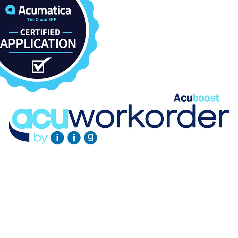 Acumatica Work Order Management / Manufacturing Webinar (AcuWorkOrder)
