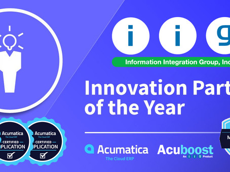 IIG Wins 'Innovation Partner Of The Year' And MVP Honors At Acumatica Summit