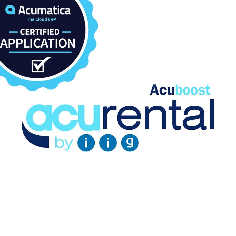 Acumatica Rental Management Webinar (AcuRental)