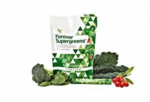 Forever Supergreens contient des sticks de superfood de 20 fruits et légumes pour protège les cellules. Ce produit sain n'a pas de matières grasses, ni sucre ajouté. Forever Supergreens aide à maintenir les défenses naturelles. Il aide également à la récupération musculaire. Si vous souhaitez un regain d'énergie, équilibrer votre pH, néhsitez plus pour le commander aloeverapassion.com