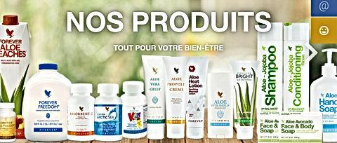 aloeverapassion.com vous propose de découvrir toute la gamme  de produits à l'aloe vera Forever Living France Aloe Vera Passion
