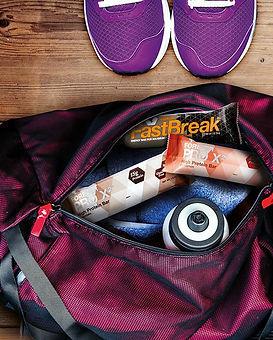 Equipement du sportif Aloe Vera Passion avec des barres de vitamines et protéines Forever Fast Break et Forever Pro X2
