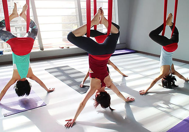 anti gravity aerial yoga hong kong fitness studio
