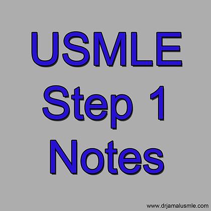 USMLE Step 1 Notes