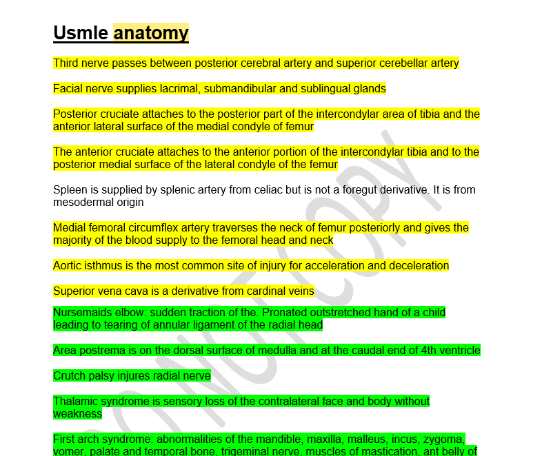 USMLE Step 1 Notes - Dr Jamal