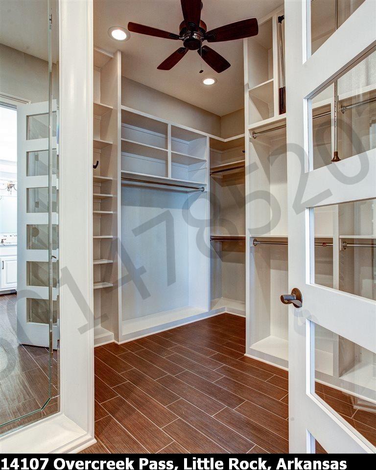 Open Closet for Bedroom #1