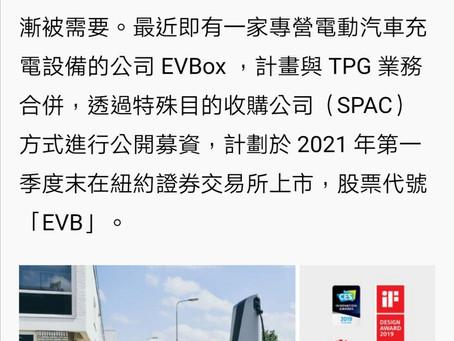 BLNK SBE 後另一家充電Spac合併上市 .