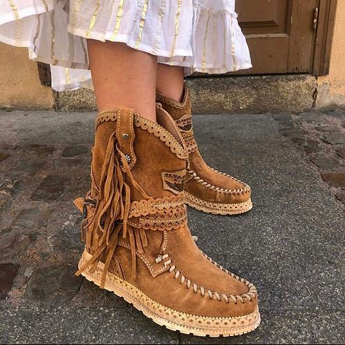 El Vaquero støvlet med kilehæl