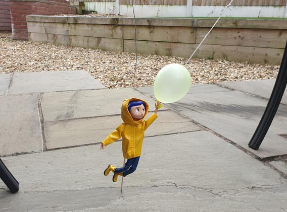 Coaraline and the balloon.