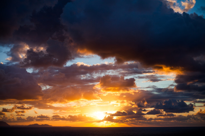 Sunset from Barrika