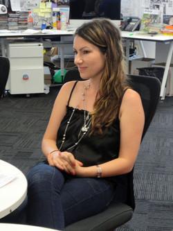 Alison at Warner Studio