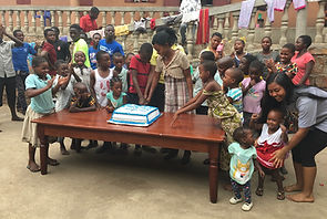 Birthday Party for the Children in the Orphanage