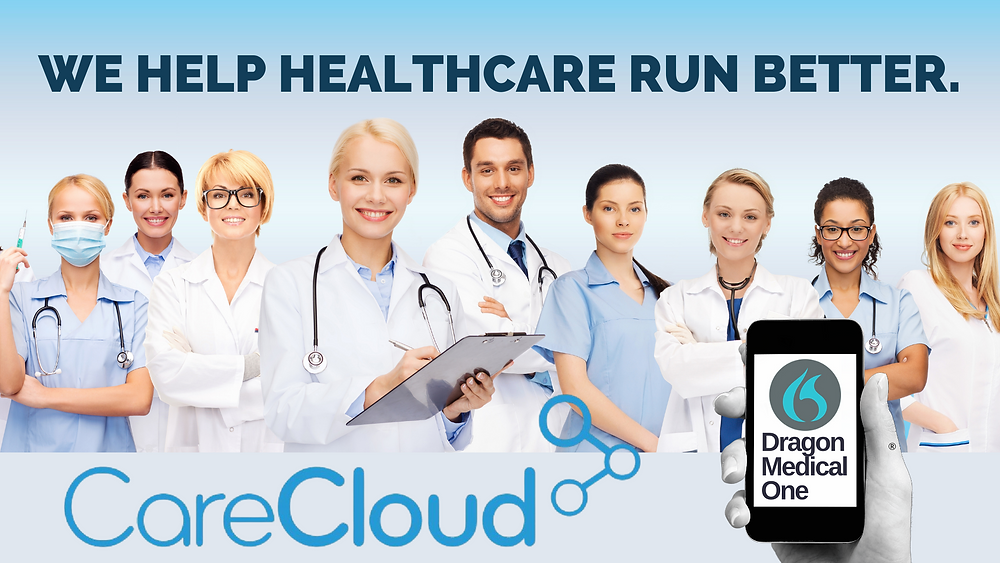 CareCloud EHR and Dragon Medical One Clinical Speech Recognition Improve Practice Productivity