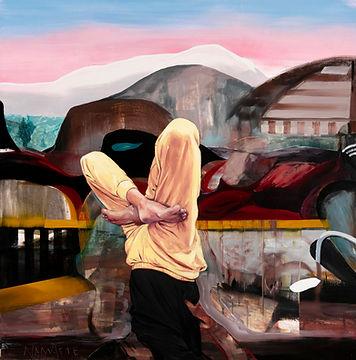 SABO, Namaste, 2018, Oil on canvas, 90 x 90 cm, Not available