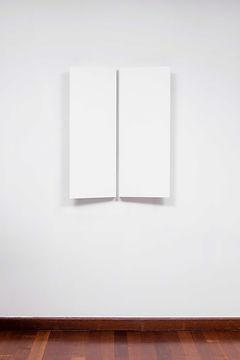 ÖMER PEKİN, Untitled 11, 2019, Lacquered steel, 90 x 78x 12cm, Unique