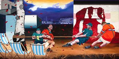 SABO, Shame On You, 2018, Oil on canvas, 175 x 350 cm