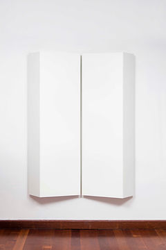 ÖMER PEKİN, Untitled 13, 2019, Lacquered steel, 150x 108x 24cm, Unique