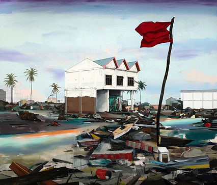 SABO, Tsunami, 2017, Oil on canvas, 170 x 200 cm