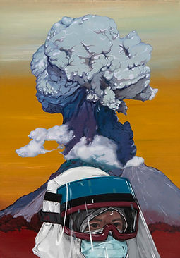 SABO, Volcano, 2017, Oil on canvas, 50 x 35 cm, Not available