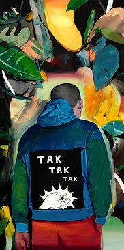 SABO, Tak Tak Tak, 2018, Oil on canvas, 120 x 60 cm