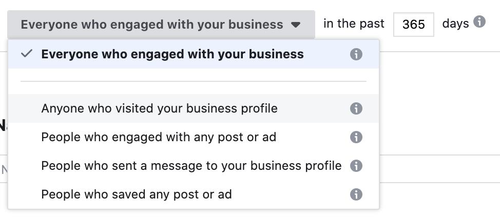 use instagram business profile to create custom audience