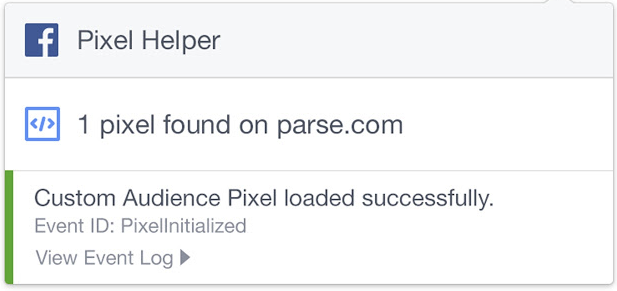 facebook pixel helper to help you check if pixel works