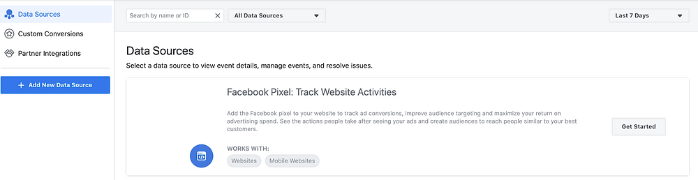 create facebook pixel from business manager