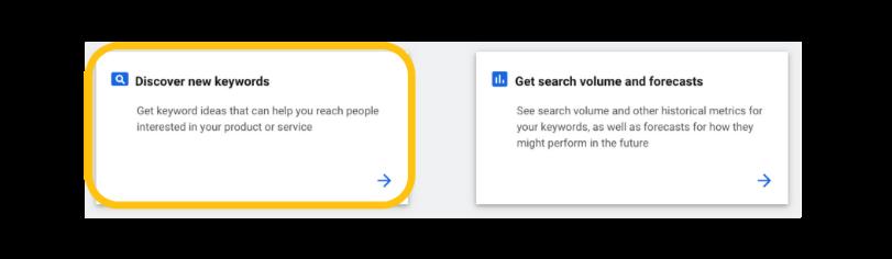 discover new keyword