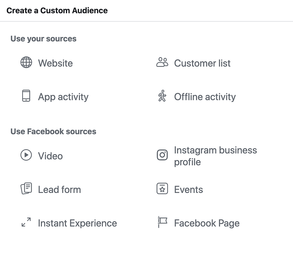 how to create custom audience in Facebook Ads