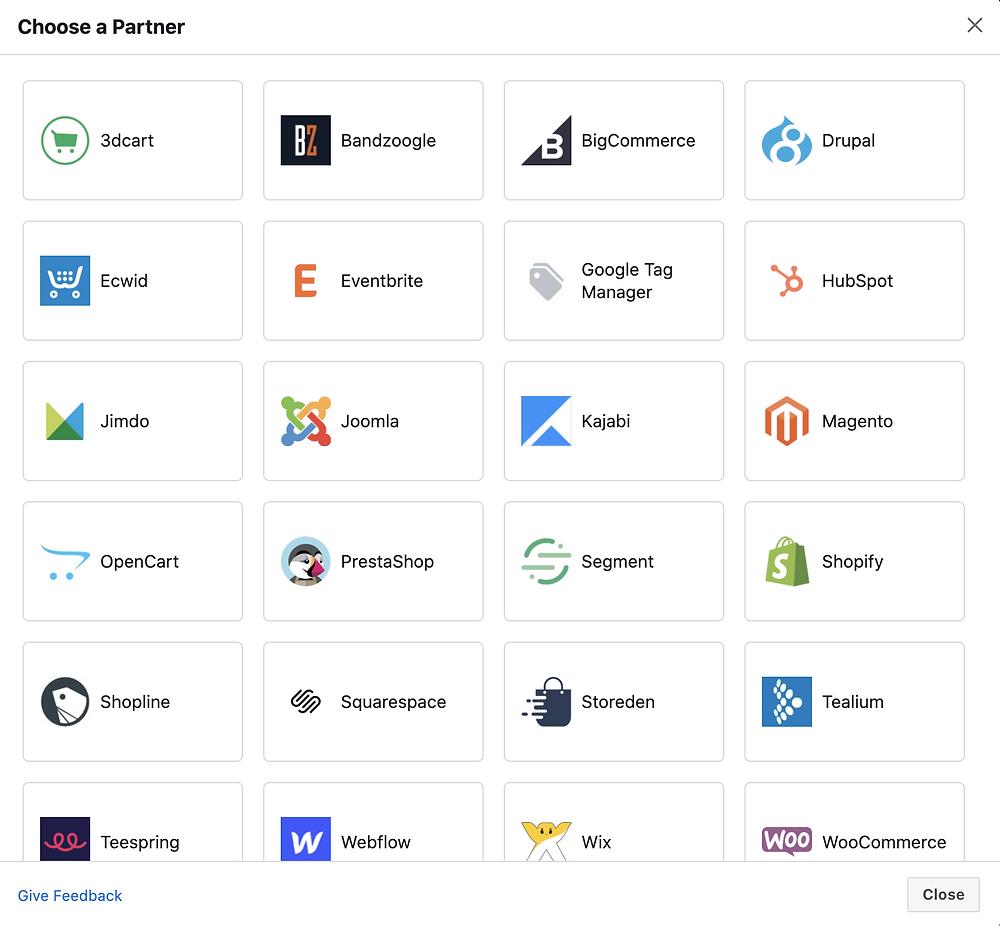 choose webiste platform