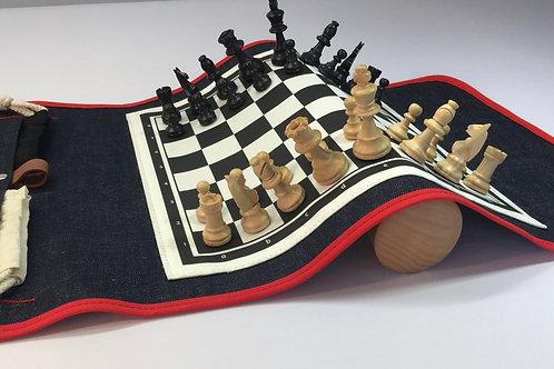 Jeu d'échecs de voyage aimanté et enroulable