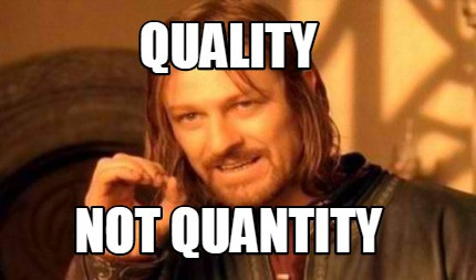 White supremacy - valuing quantity over quality