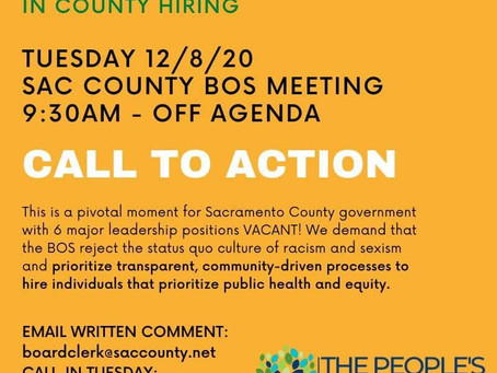 Transparency in Hiring CEO, CFO & Top County Positions!