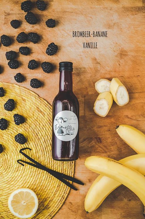Es wird beerig mit unserem Brombeer-Banane-Vanille Sirup