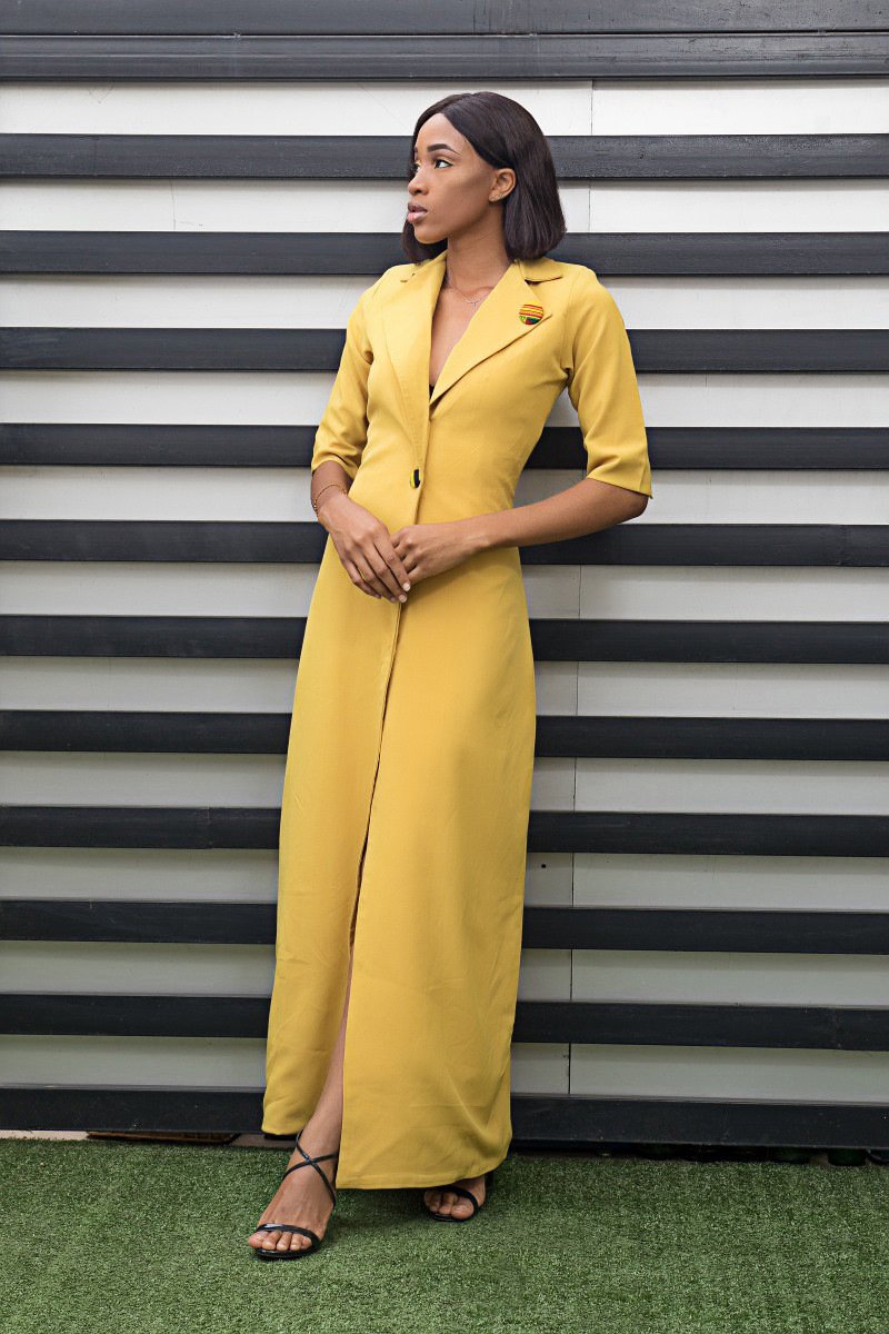 asakeoge yellow suit spring summer 2019 trend style