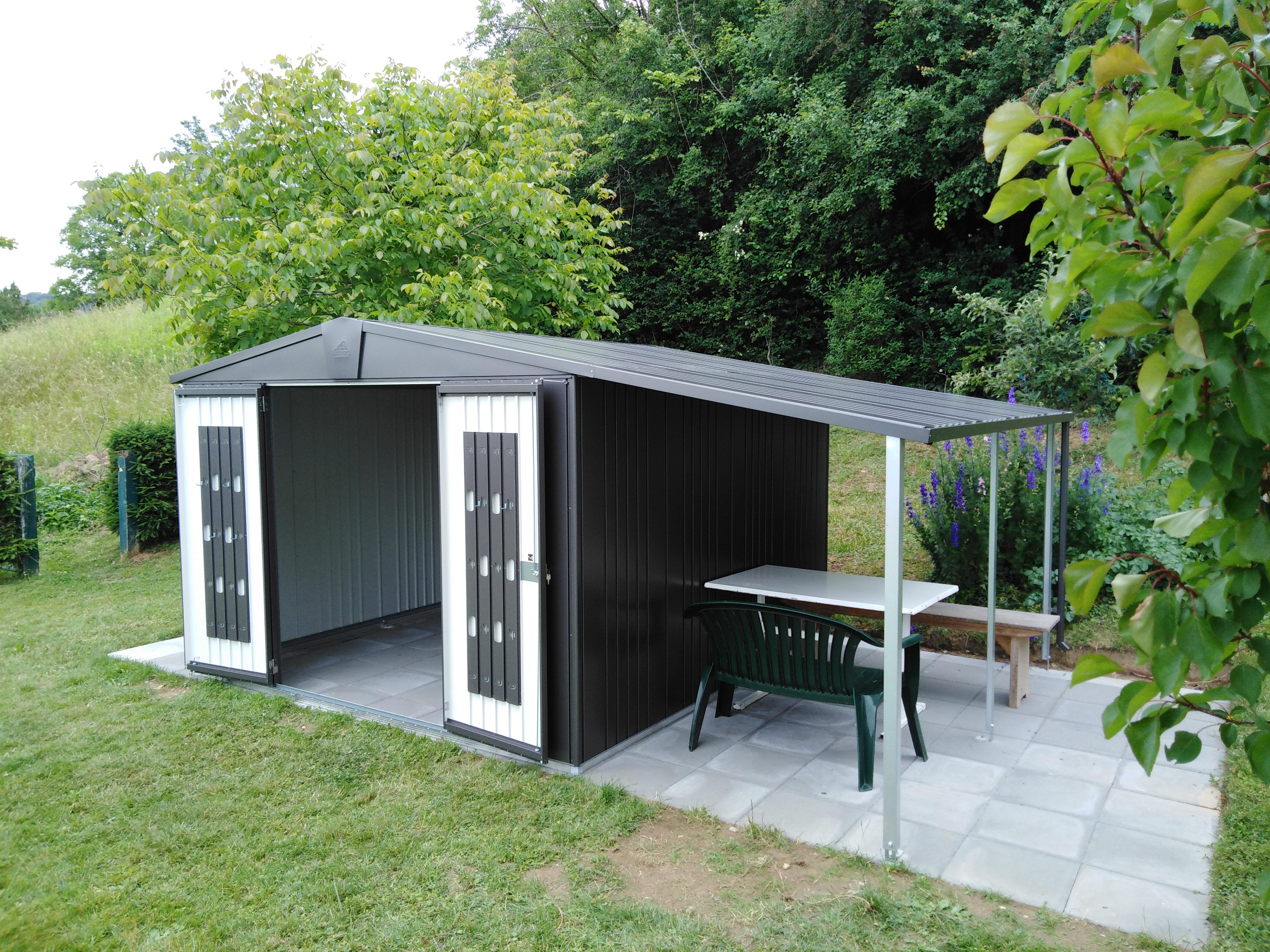 Gerätehaus Europa mit Seitendach