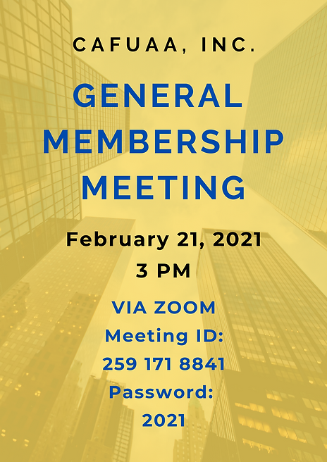 CAFUAA General Meeting Flyer February .p