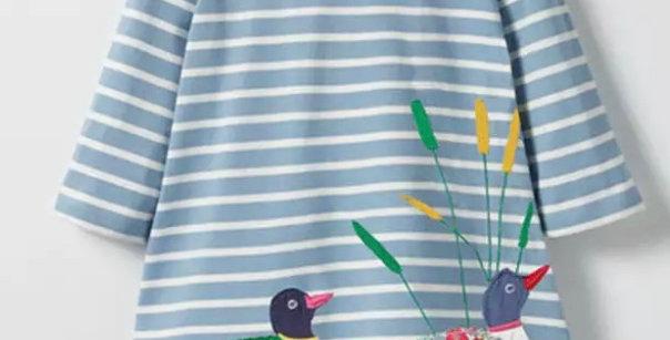 Girls Duck Print Dress